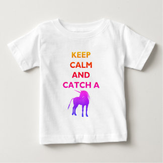 Keep Calm & Colorful Unicorn Baby Fine Jersey Tee