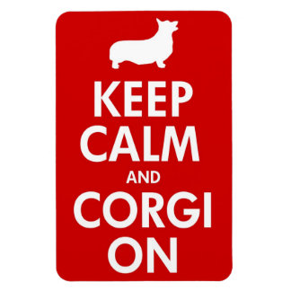 Keep Calm Corgi On Large Car Magnet