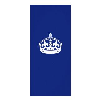 Keep Calm Crown on Navy Blue Decor Rack Card