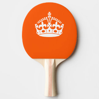 KEEP CALM CROWN on Orange Customize This Ping Pong Paddle