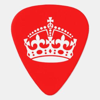 Keep Calm Crown Plectrum