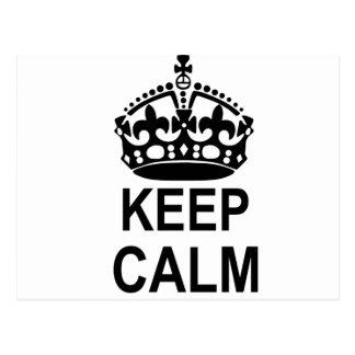 Keep Calm Crown Postcard