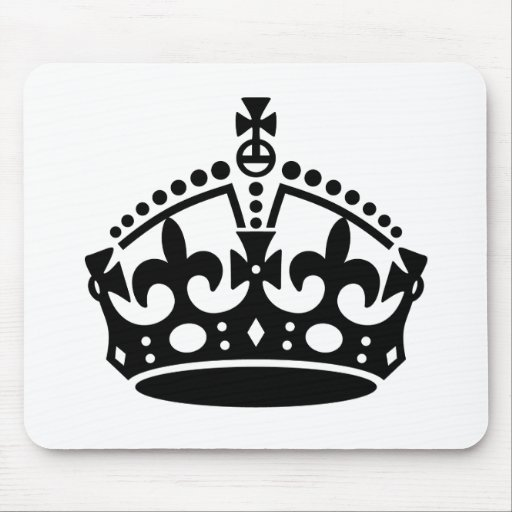 Keep Calm Crown Template Mousepad