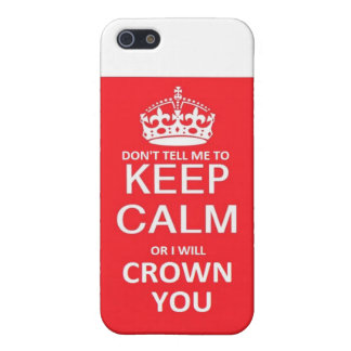 Keep Calm/Crown You Cover For iPhone 5/5S