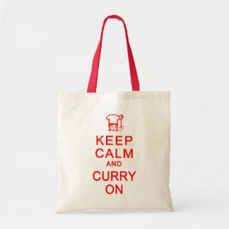 KEEP CALM & CURRY ON bag - choose style