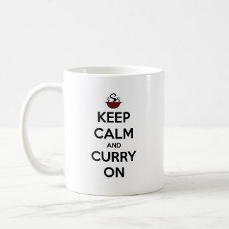 keep calm curry on coffee mug