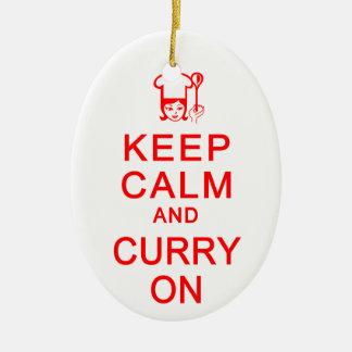 Keep Calm & Curry On ornament - customize