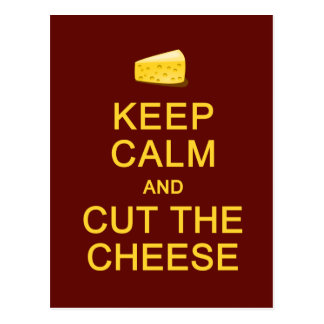 Keep Calm & Cut The Cheese postcard, customize Postcard