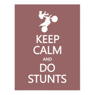 Keep Calm & Do Stunts custom color postcard