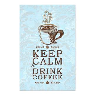 Keep Calm Drink Coffee Flyer Design