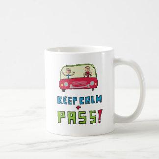 Keep Calm Driving Test Coffee Mug
