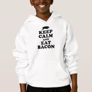 KEEP CALM & EAT BACON HOODIE