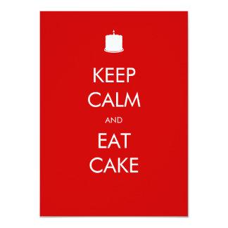 Keep Calm Eat Cake 100th Birthday Invitation