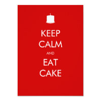 Keep calm invitations announcements zazzle au keep calm eat cake 90th birthday invitation filmwisefo