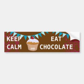 KEEP CALM  EAT  CHOCOLATE BUMPER STICKER