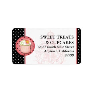 Keep Calm & Eat Cupcakes Bakery Business Address Label