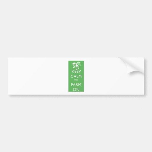 keep calm farm on bumper sticker