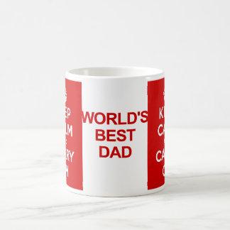 Keep Calm Father's Day Basic White Mug
