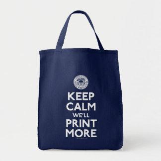 Keep Calm Federal Reserve Parody Bags
