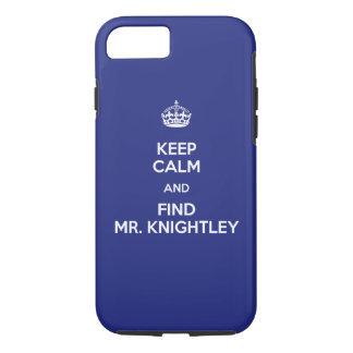 Keep Calm Find Mr. Knightley Emma Jane Austen iPhone 8/7 Case