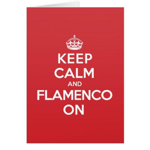 Keep Calm Flamenco Greeting Note Card