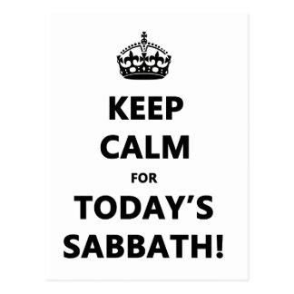 KEEP CALM for TODAY'S SABBATH Postcard