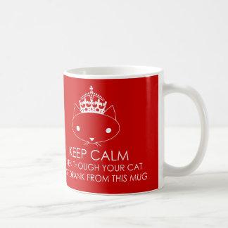 Keep Calm Funny Cat Mug