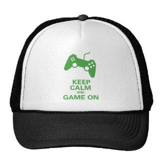 Keep calm game on cap