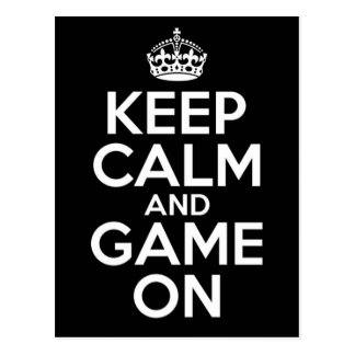 Keep Calm Game On Video Games Geek Postcard