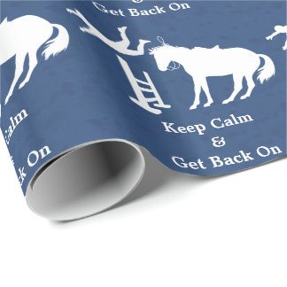 Keep Calm & Get Back On Jumping Horse Wrapping Paper