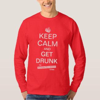 Keep Calm & Get Drunk Funny Designated Driver T-shirts