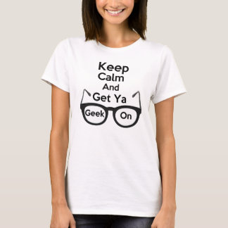Keep Calm & Get Ya Geek On Baby Doll T-Shirt