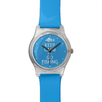 Keep Calm & Go Fishing custom color watches