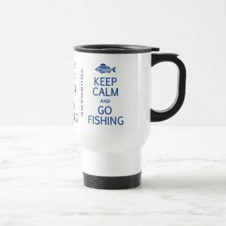 Keep Calm & Go Fishing custom mugs