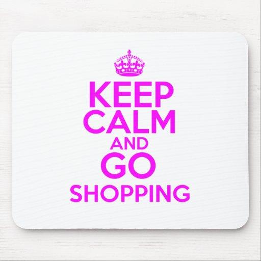 Keep Calm & Go Shopping Mousemats