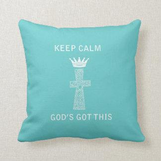 Keep Calm, God Pillow