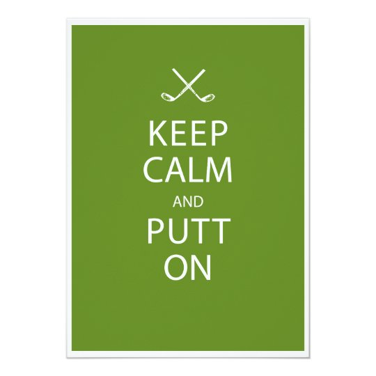 Keep Calm - Golf 80th Birthday Card