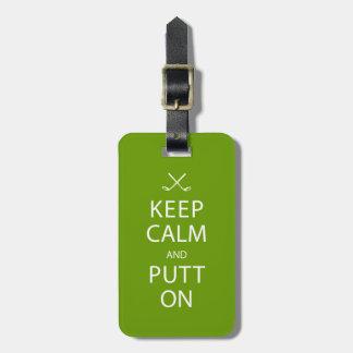 Keep Calm & Golf On Gift Luggage Tag