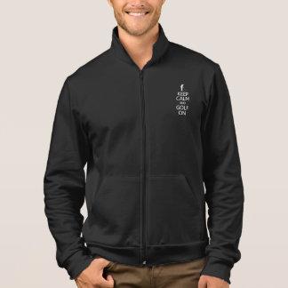 Keep Calm & Golf On jacket - choose color