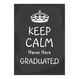 Keep Calm Graduation Chalkboard Card