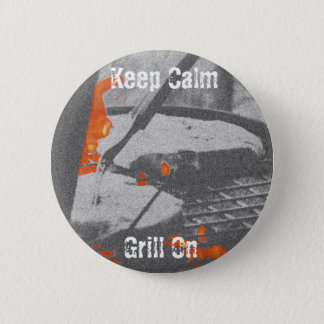 Keep Calm Grill On 6 Cm Round Badge