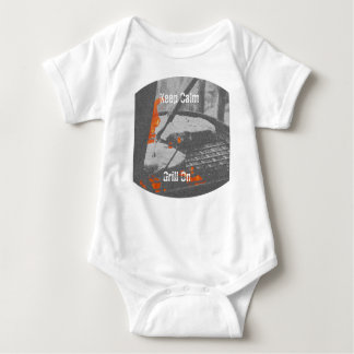Keep Calm Grill On Baby Bodysuit