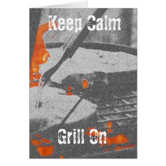 Keep Calm Grill On Card