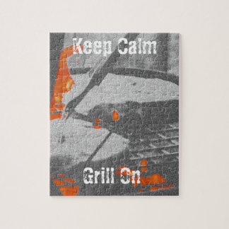 Keep Calm Grill On Jigsaw Puzzle