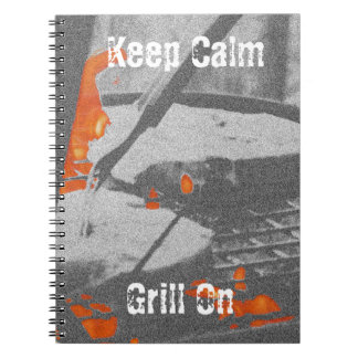 Keep Calm Grill On Notebook