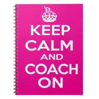 Keep Calm Gymnastics Coach Gift Notebook