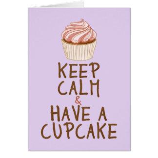 Keep Calm Have a Cupcake - lilac Card