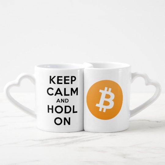 Keep Calm & HODL Bitcoin Together Couple Mug