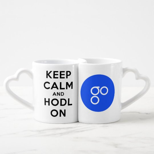 Keep Calm & HODL OmiseGO Together Couple Mug