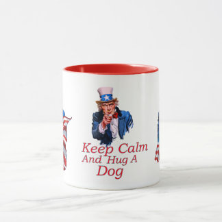 Keep  Calm Hug a Dog Mug